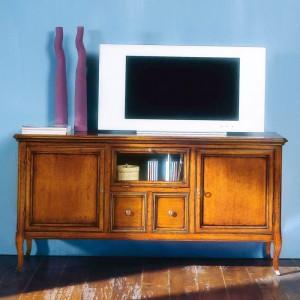 Porta Tv con ribalta vetro,...