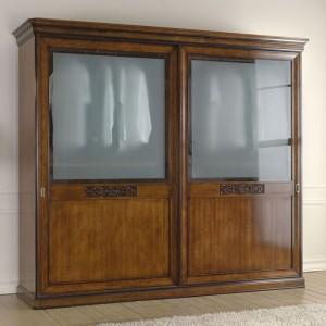 armadio due ante con vetri
