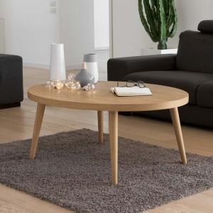 Tavolino Loft ovale gambe a...