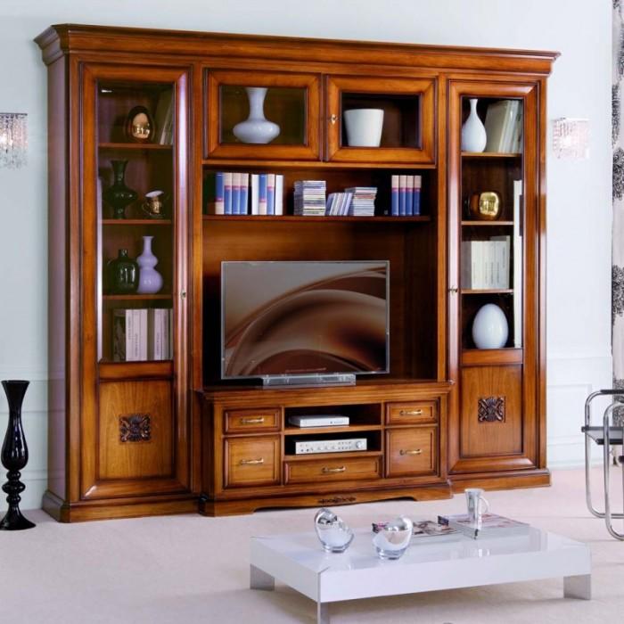 Soggiorno Classico con vano TV e ampie vetrine